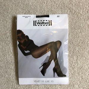 Wolford Black Velvet De Luxe 50 Tights